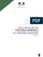 Discours de politique générale du Premier ministre Manuel VALLS