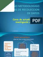 DISEÑO METODOLOGICO Y TECNICAS DE RECOLECCION