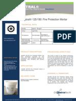 Vatral 125-150_Fire Protection Mortar_Technical Datasheet