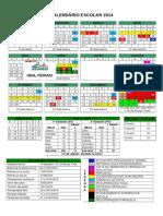 calendário 2014 em doc