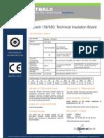 Vatral 150-650 Technical Insulation Board_Technical Datasheet