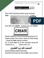 Grade 1 Islamic Studies - Worksheet 1.2 Allah is the Creator - Part 2
