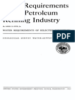 Water Req Refinery