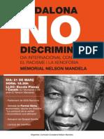 Cartell Dia Internacional contra el Racisme i la Xenofòbia a Badalona 2014