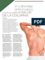 Prevención y abordaje mínimamente invasivo, claves para la salud de la columna | Revista GHQ #17