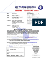 MTA Equipment & Maintenance Council Detroit Chapter April 2014 Meeting Notice TECH NIGHT