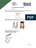 Lista de Materiais Desenho de Arquitetura