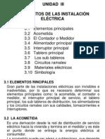 UNIDAD III  Elementos de las instalaciones eléctricas