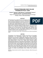 Identifikasi Problema Obat Dalam Pharmaceutical Care