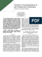 inclusión digital-apropiación social de las TIC