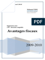 Avantages fiscaux 2009 CES Révision comptable