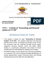 financial study of iti ltd mankapur