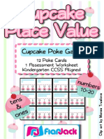 Cupcake Place Value Poke Game
