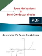 Breakdown Mechanisms