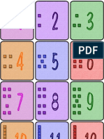 Colorful Flashcards Numbers to With Base Ten Blocks