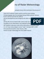 Brief History of Radar Meteorology