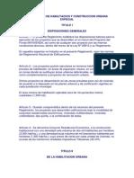 Reglamento de Habilitacion y Construccion Urbana Especial
