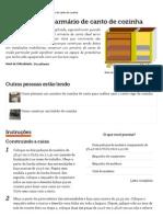 Como fazer um armário de canto de cozinha _ eHow Brasil