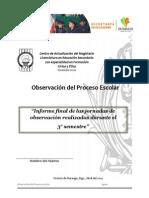 Informe Registro de Observación