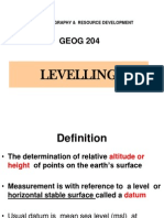 Geog 204 Lectures Levelling 2014