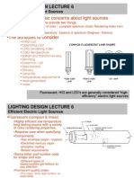 LIGHTING DESIGN LECTURE 6 LAMPS