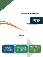 1 Webmatrix Introduction m1 Slides