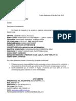 Carta Exterior Bcp Monto 1