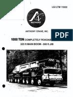 1000 Ton LG LTM 11000 Liebherr