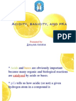 Acidity, Basicity and pKa