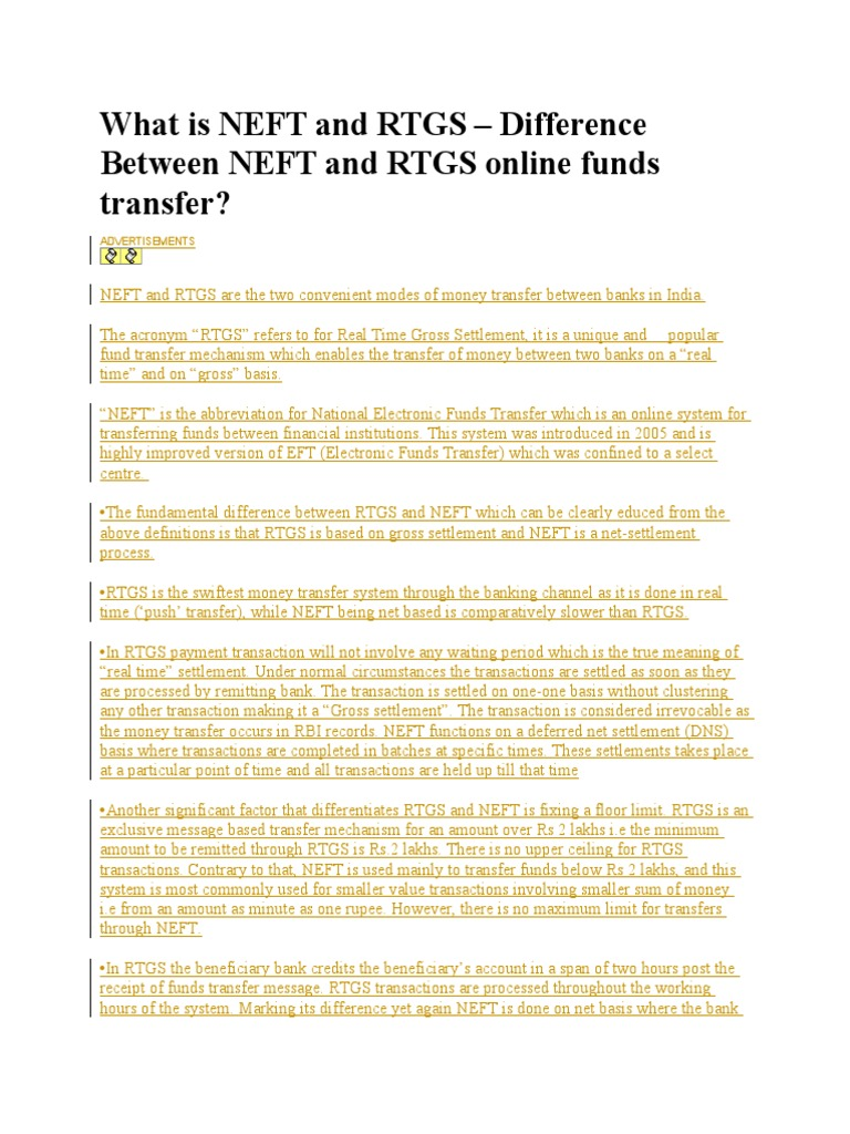 109922955 What is Neft and Rtgs | Repurchase Agreement