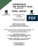 Dundonald Open Show 2014