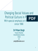 Changing Social Values and Political Culture in Punjab