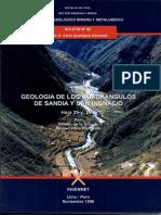 Geología - Cuadrangulo de Sandia %2829y%29 y San Ignacio%2829z%29%2C1996