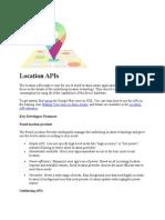 Location APIs