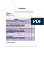 evaluation rubrics