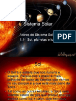 Sistema Solar - Sol, Planetas e Luas