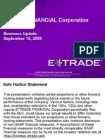 ETFC 9/15/09 Guidance