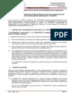 Terminos de Referencia Para El Proyecto de Modernizacion de Carreteras 2013