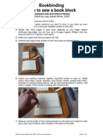 How to Sew a Book Block