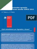 Resultados Nacionales Agresion Prevencion y Acoso Escolar Simce 2012
