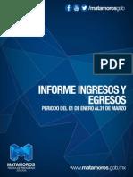 Informe de Ingresos y Egresos Marzo 2014
