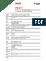 Academic Word Sublist 9