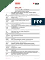 Academic Word Sublist 5