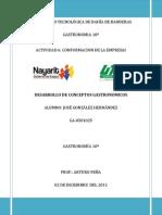 Rubrica 6 Conformacion de La Empresa Jose Gonzalez