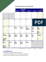 Dinner Calendar