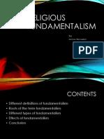 Religious Fundamentalism