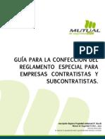 Guía para la confección del reglamento de subcontratistas