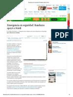Emergencia en seguridad_ Randazzo apoyó a Scioli