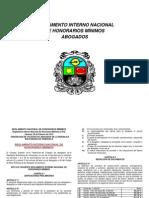 Reglamento Interno Nacional de Honorarios Mínimos ABG.