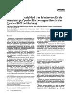 Morbilidad y mortalidad tras la intervención de colostomia tio hartman